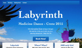 Medicine Dance website