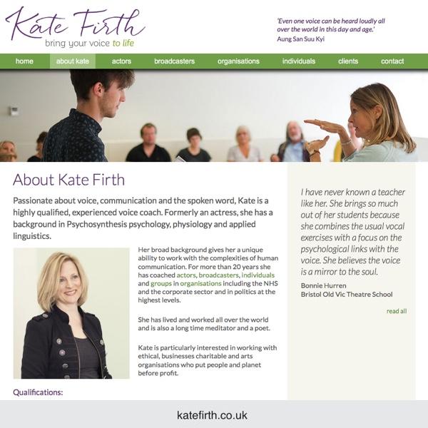 Kate Firth - voice coach